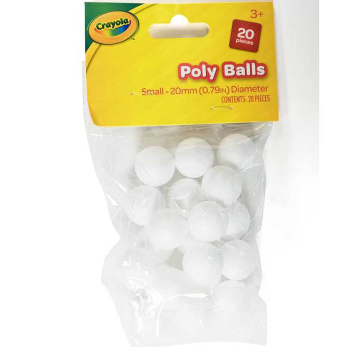 Crayola Small Poly Balls 20mm x 20 pieces