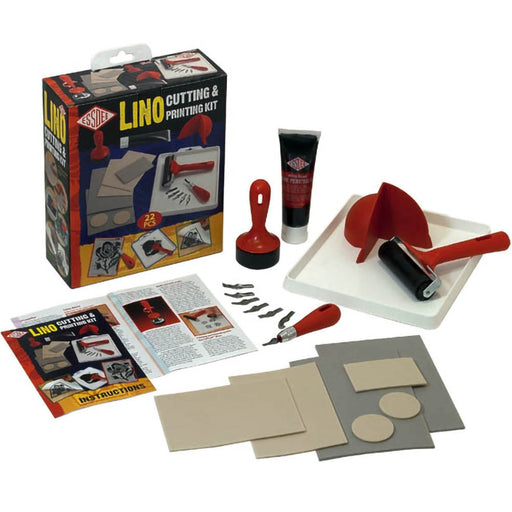 Essdee lino cutting and printing kit showing box contents