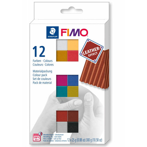 Fimo Leather Effect 12 colour set