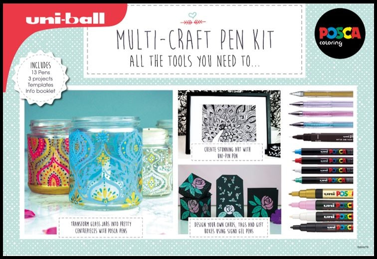 Uniball Multi-Craft Pen Kit x 2 sets