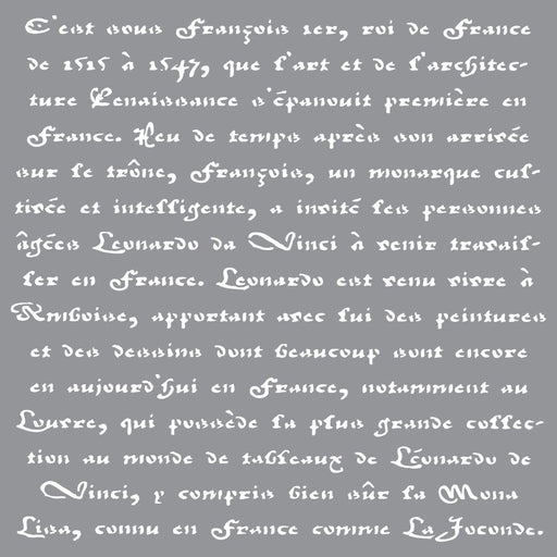 Americana Decor Stencil Old French Script 12x12in