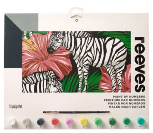 Reeves Zebra Large Paint By Numbers