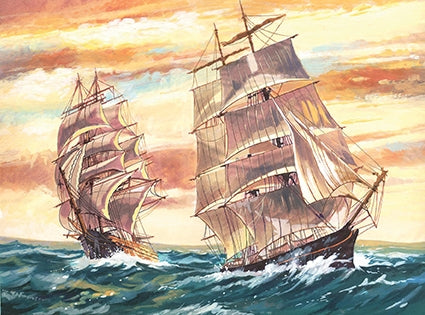 Reeves Sailing Ships Large Paint By Numbers