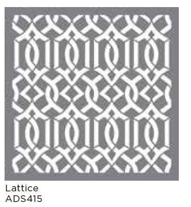 "Americana Decor Stencil Lattice 18""x18"""