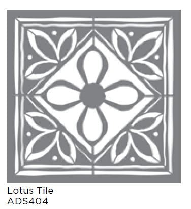 "Americana Decor Stencil Lotus Tile 18""x18"""
