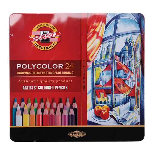 Koh-I-Noor Polycolor Artists' Coloured Pencils - Set Of 24