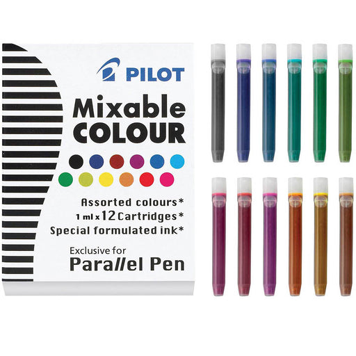 Pilot Parallel pen refill - 12 Assorted