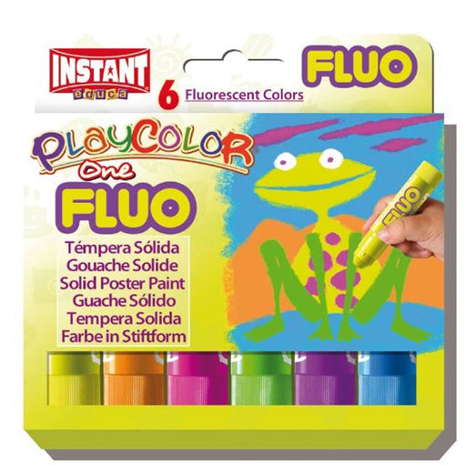Playcolor One Fluorescent colour sticks x 6