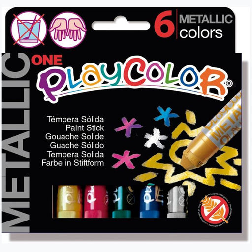 Playcolor One Metallic colour sticks x 6