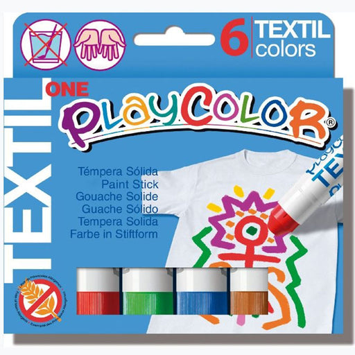 Playcolor One Textile colour sticks x 6