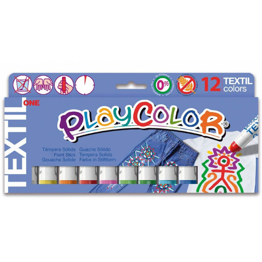 Playcolor One Textile colour sticks x 12