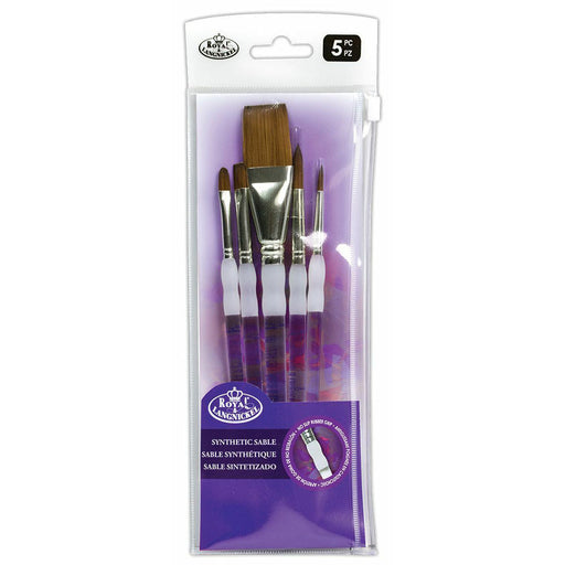Soft Grip Brush Set Synthetic Sable x 5