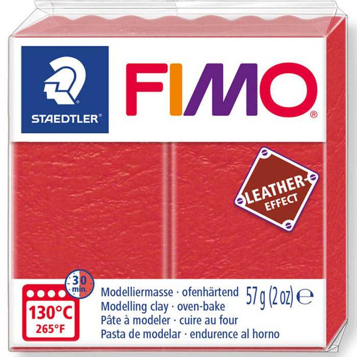 Fimo Leather Effect 57g blocks