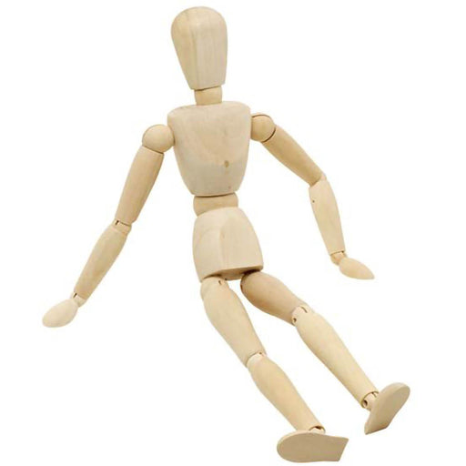 Wooden manikin or mannequin for artist drawings