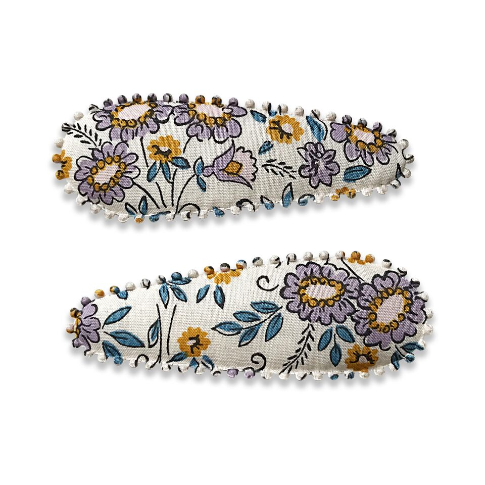 Fabric Snap Hair Clips in Various Colours & Patterns (2 Pack) - Josie Joan's