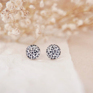 Glass Stud Earrings in 'Mink' - Auburn Designs