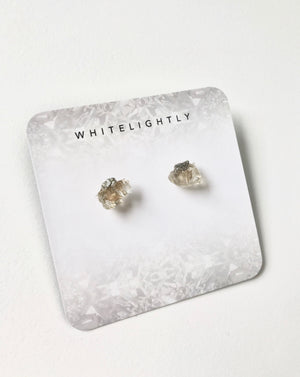 Crystal Formation Earrings in Quartz & Pyrite – WhiteLightly