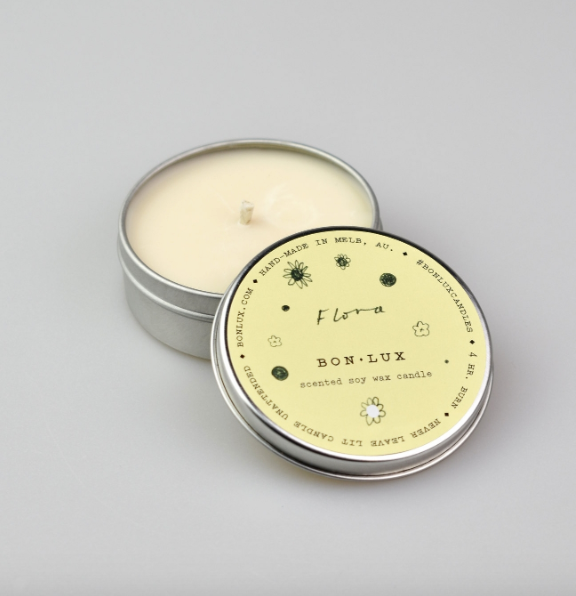 Travel Tin Candle in 'Flora' - BON LUX