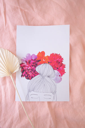 'Flower Crown' Print - Kinder Prints