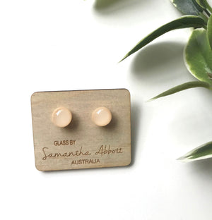 Glass Stud Earrings 'Nude' - Glass by Samantha Abbott