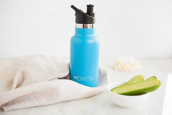 Mini MontiiCo Drink Bottle - Blue