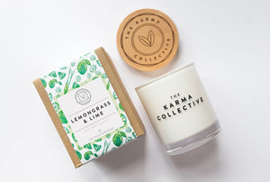 'Lemongrass & Lime' Soy Candle – The Karma Collective