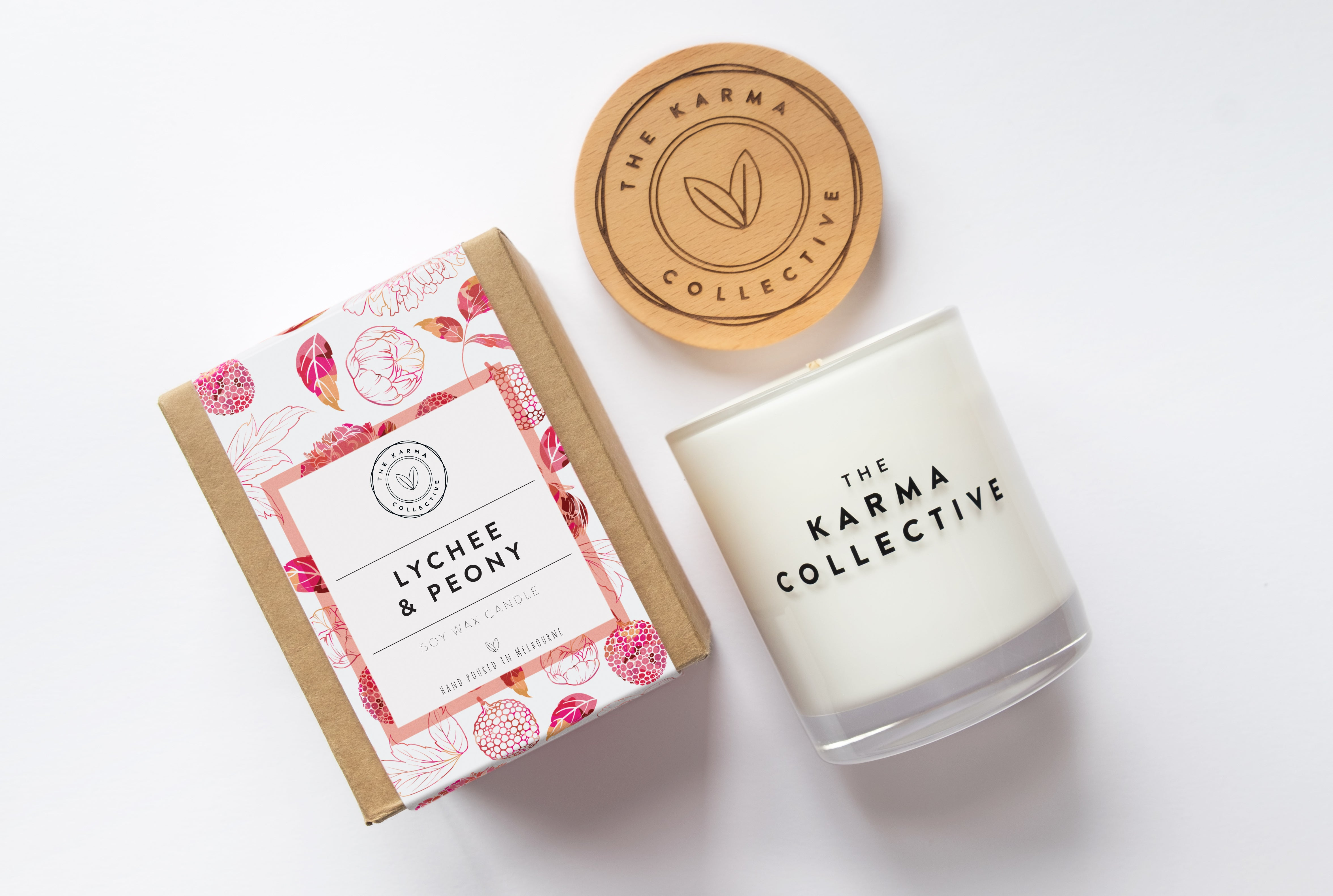 'Lychee & Peony' Soy Candle – The Karma Collective