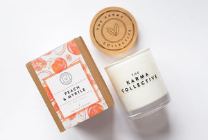 'Peach Myrtle' Soy Candle – The Karma Collective