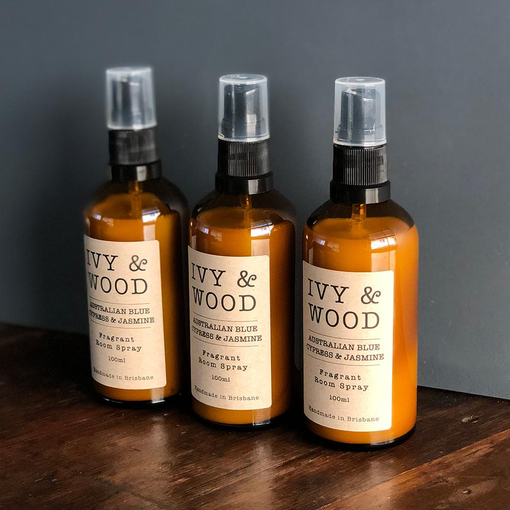 Room Spray in 'Australian Blue Cypress & Jasmine' - Ivy & Wood