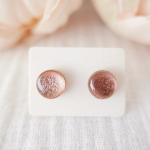 Stud Earrings in 'Rose Gold Shimmer' - Auburn Designs