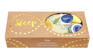 WHEATBAGS LOVE -Sleep Gift Pack – Banksia Eyepillow, Sleep Balm and Earplugs