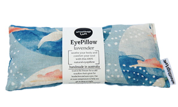 WHEATBAGS LOVE  - Relax Gift Pack - SEASIDE  - Eye Pillow & 50 ml Rose Quartz Bath Oil
