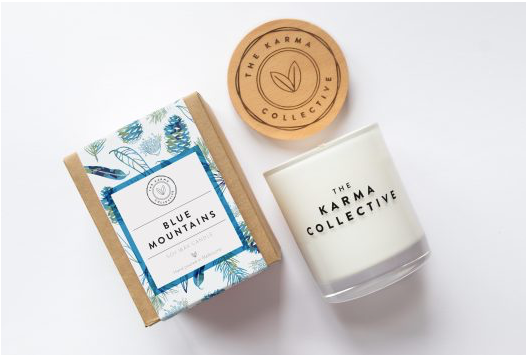 THE KARMA COLLECTIVE - Blue Mountains Scented Soy Candle