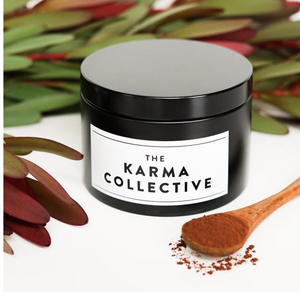 THE KARMA COLLECTIVE -  Cacao & Amber Scented Soy Candle Tin
