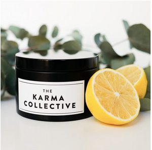 THE KARMA COLLECTIVE - Eucalyptus & Lemon Scented Soy Candle Tin
