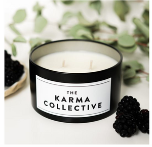 THE KARMA COLLECTIVE - Black Raspberry  Scented Soy Candle Tin