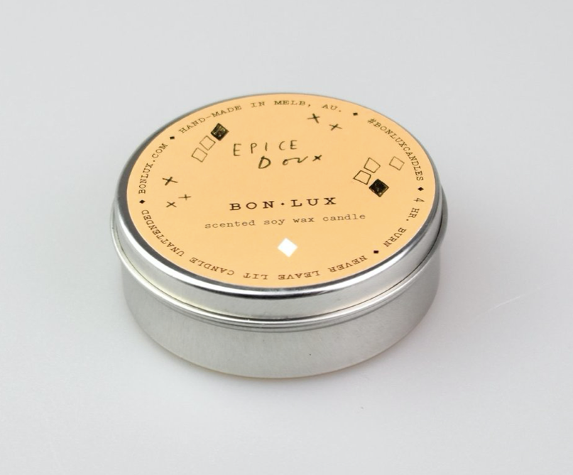 BON LUX -EPICE DOUX Travel Tin Candle