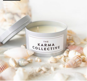 The Karma Collective - Phillip Island Scented Soy Candle Tin – Silver