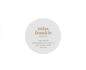 'Take Me Off' Nail Polish Wipes - Miss Frankie