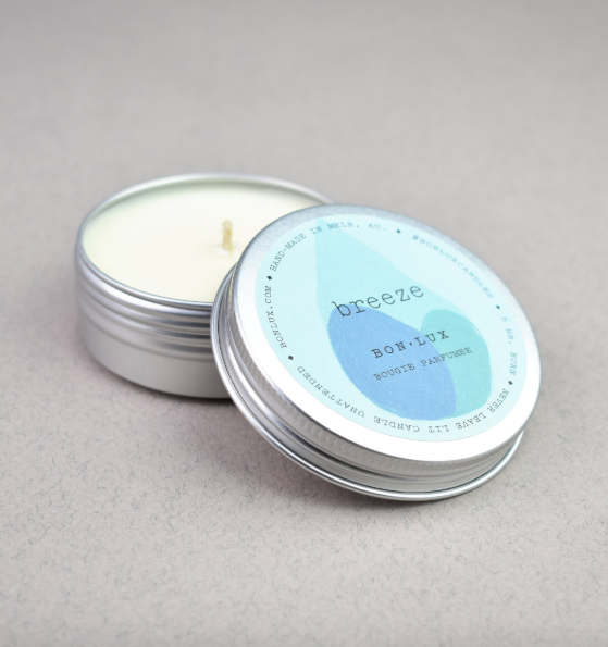 Travel Tin Candle in 'Breeze' - BON LUX