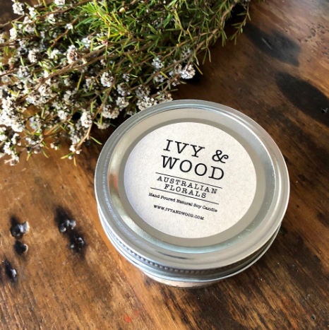'Australian Florals' Soy Candle - Ivy & Wood