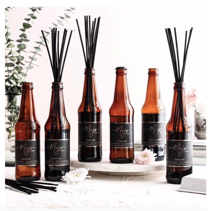 Reclaimed Beer Bottle Reed Diffuser - Himalayan Bamboo