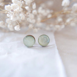Stud Earrings in 'Soft Sage Green' - Auburn Designs