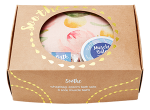 WHEATBAGS LOVE - Soothe Gift Pack - PROTEA - Wheatbag, Bath Salts & Muscle Balm