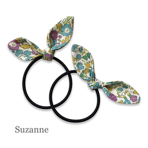 Bunny Hair Ties in Various Colours & Patterns (2 pack) - Josie Joan's