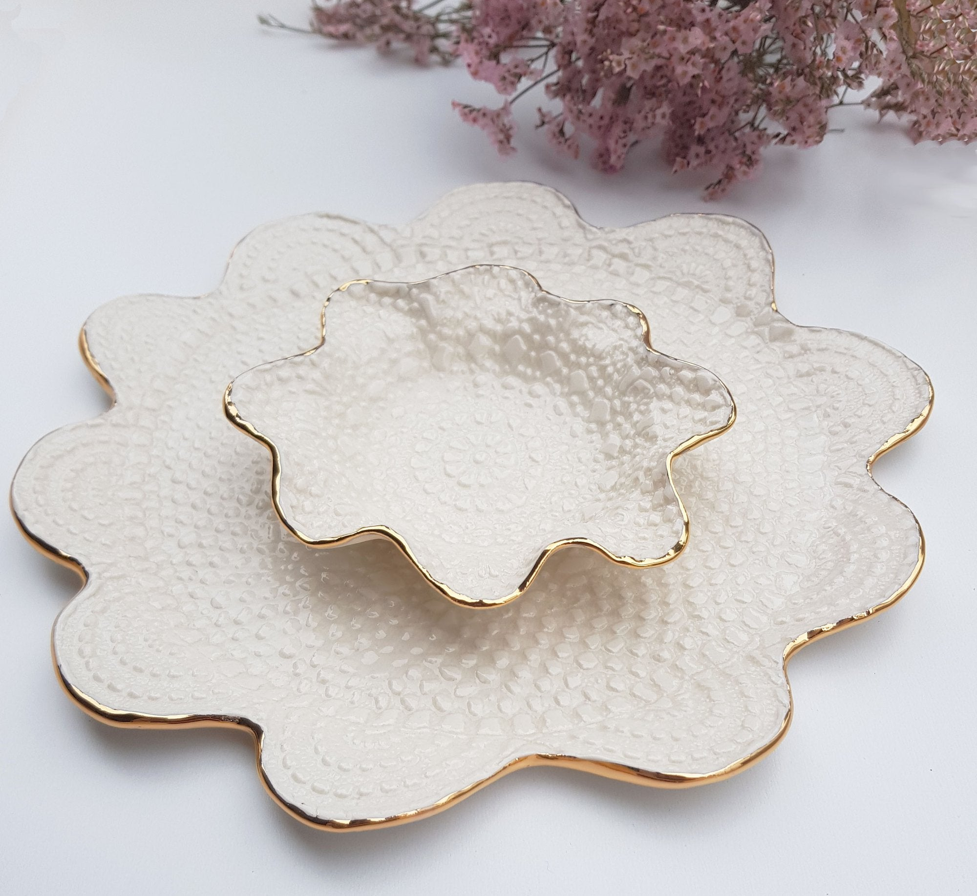 Vintage Lace Gold Rim Set (Porcelain) - Tea4Two Art