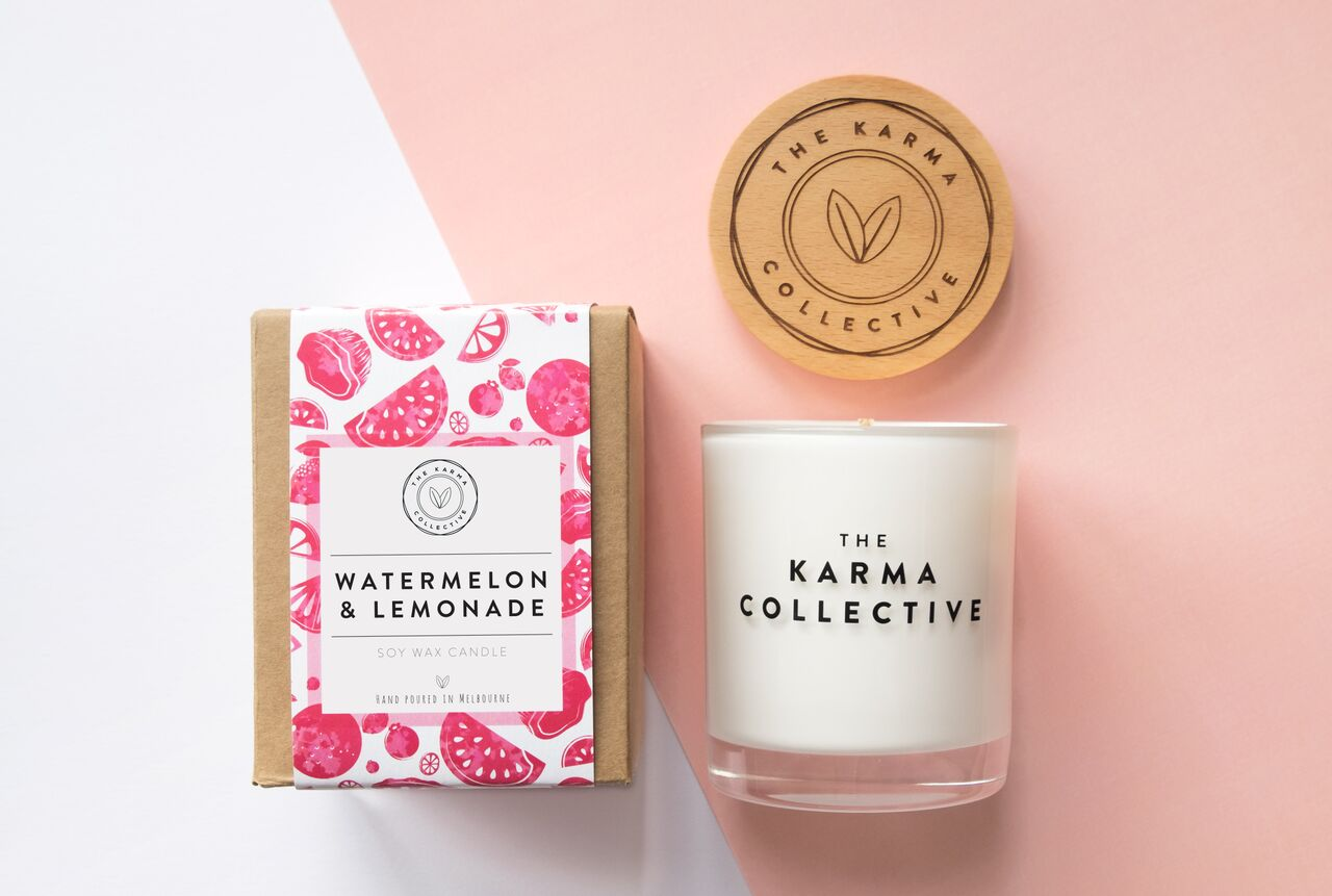 'Watermelon & Lemonade' Soy Candle – The Karma Collective