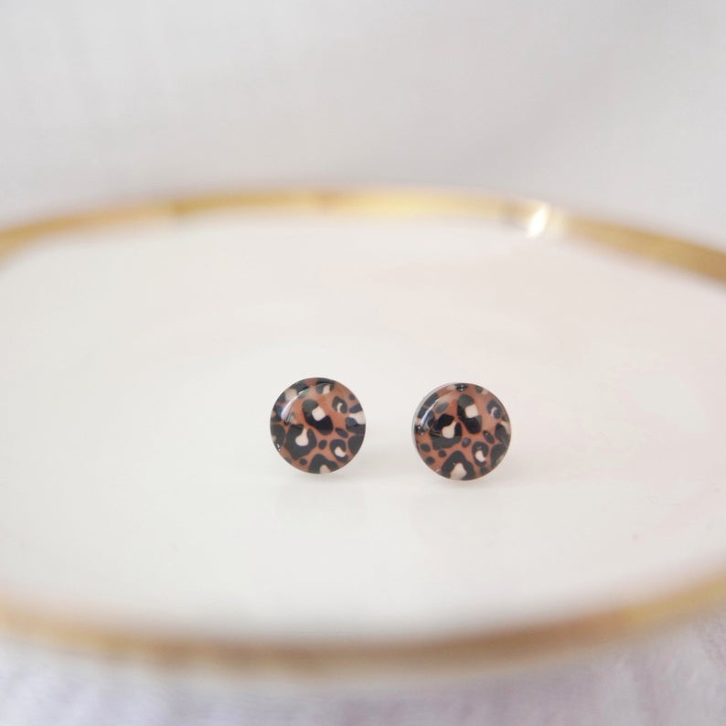Glass Stud Earrings in 'Wilde' - Auburn Designs