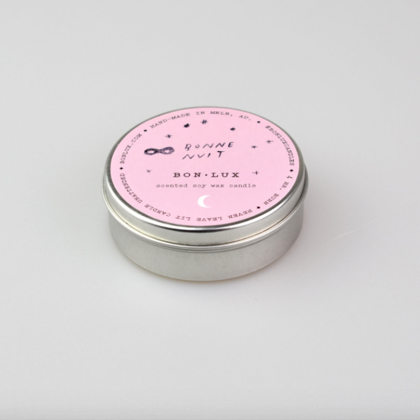 Travel Tin Candle in 'Bonne Nuit' - BON LUX