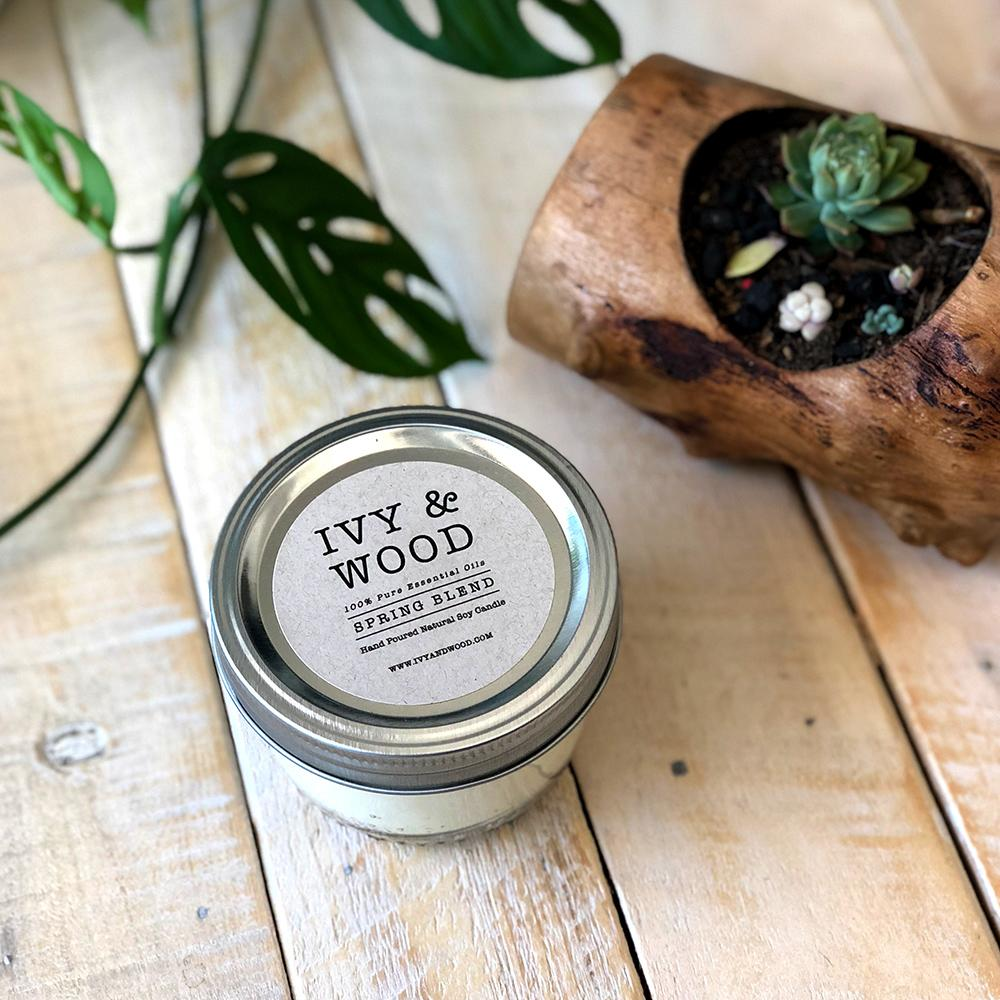 Pure Essential Oil Soy Candle - 'Spring' Blend